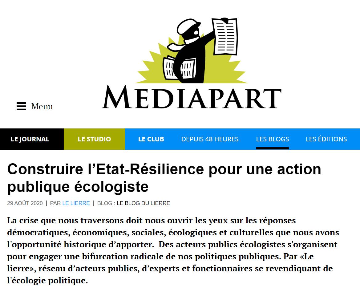 Le Lierre publie dans Mediapart